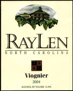 Wine:RayLen Vineyards 2004 Viognier  (North Carolina)